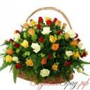 """Корзина цветов """"Микс из роз"""""""