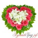 Сердце из роз и лилий
