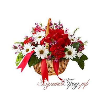 Корзина из цветов «Разанессио»