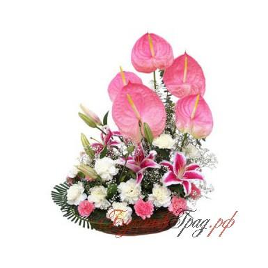 Корзинка цветов «Реонитта»