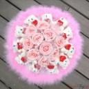 Букет из мишек и роз