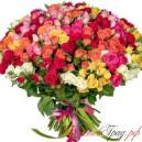 101 роза дёшево можно купить и заказать на доставку в БукетовГрад Нижний Новгород