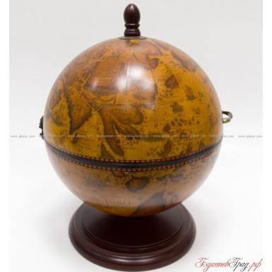 Мини-бар в виде глобуса настольный 38 см