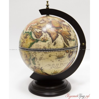 Глобус-бар светлый 38 см